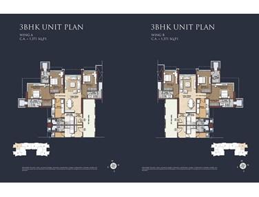 Floor Plan - Raheja Imperia, Worli