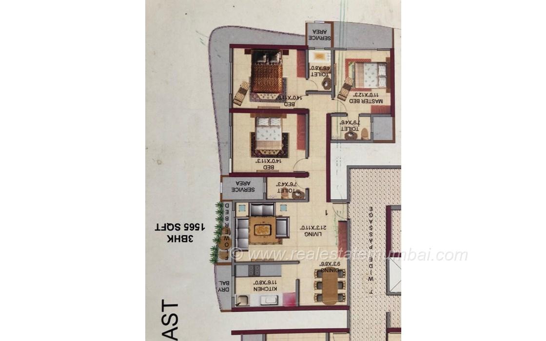 Floor Plan1 - HDIL Metropolis, Andheri West