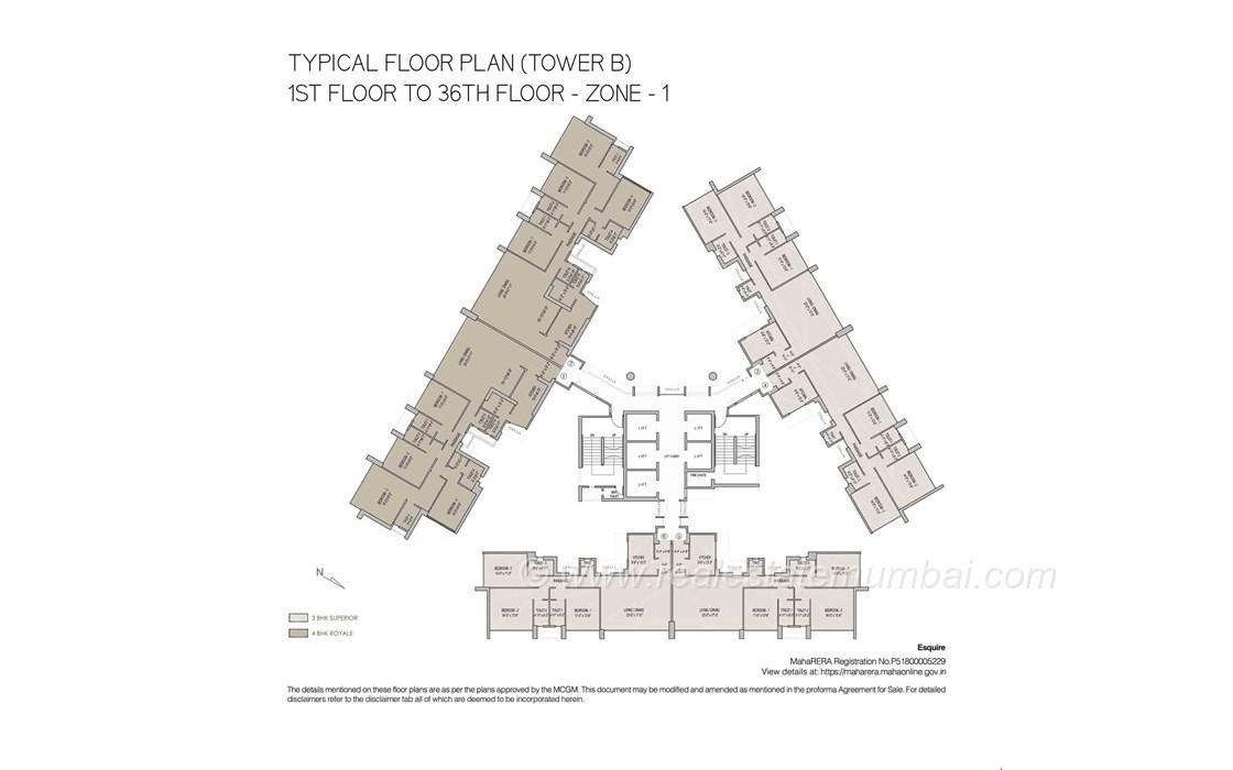 Floor Plan - Oberoi Esquire, Goregaon East