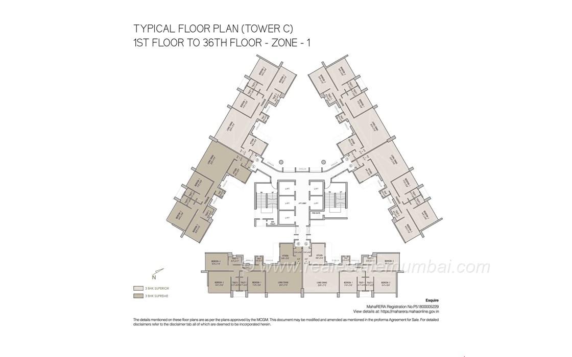 Floor Plan1 - Oberoi Esquire, Goregaon East