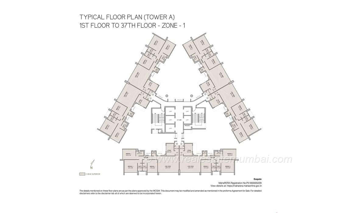 Floor Plan2 - Oberoi Esquire, Goregaon East