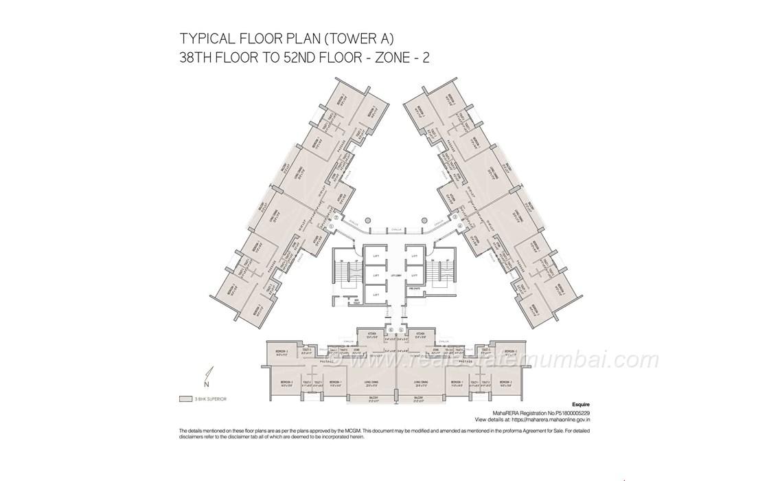 Floor Plan3 - Oberoi Esquire, Goregaon East