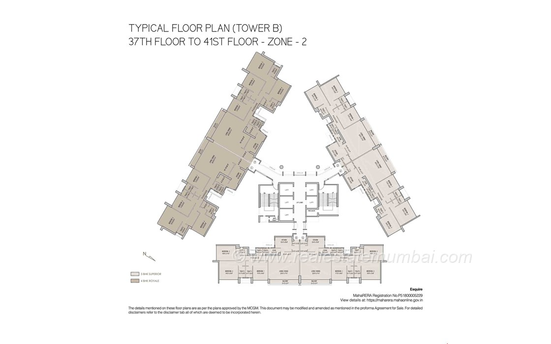 Floor Plan4 - Oberoi Esquire, Goregaon East