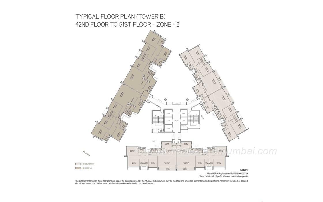 Floor Plan5 - Oberoi Esquire, Goregaon East