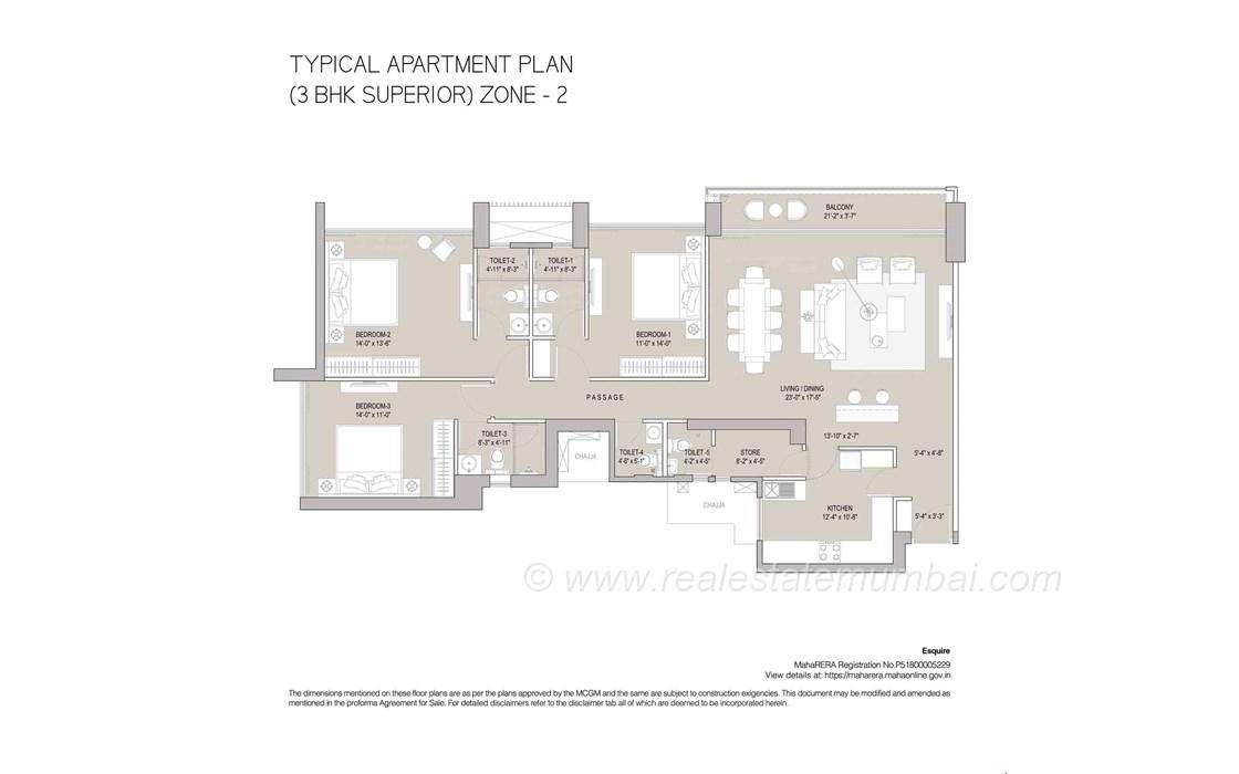 Floor Plan7 - Oberoi Esquire, Goregaon East