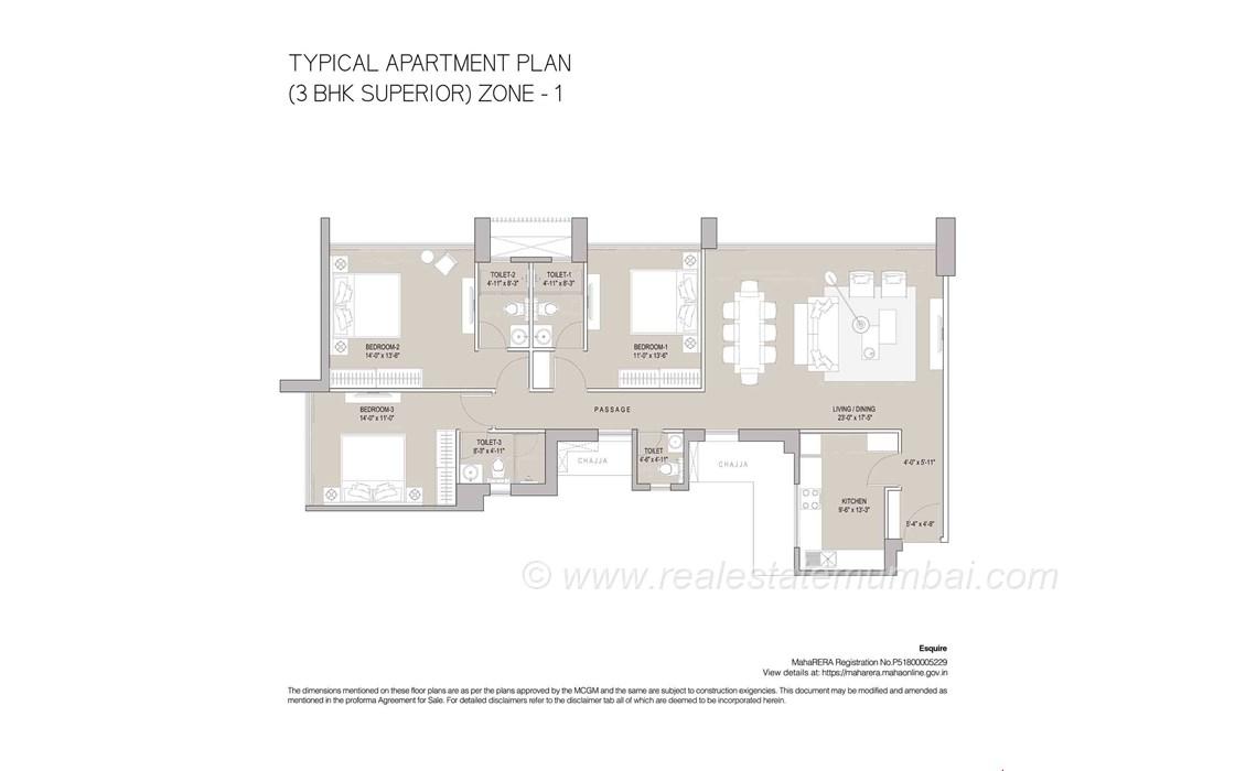 Floor Plan8 - Oberoi Esquire, Goregaon East