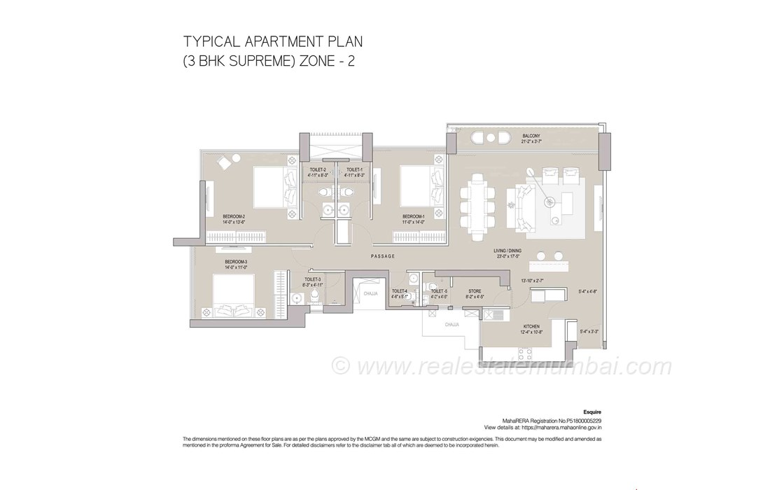 Floor Plan9 - Oberoi Esquire, Goregaon East