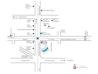 Location Plan - Lotus Link Square, Andheri West