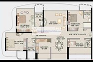 Floor Plan - Kalpataru Horizon, Worli